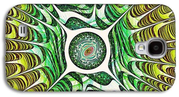 Abstract Digital Art Galaxy S4 Cases - Spring Dragon Eye Galaxy S4 Case by Anastasiya Malakhova