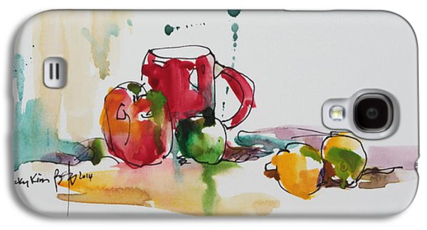 Becky Kim Paintings Galaxy S4 Cases - Spring Energy Galaxy S4 Case by Becky Kim