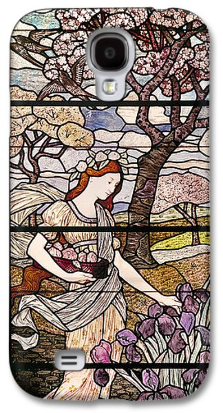Landscapes Glass Art Galaxy S4 Cases - Spring Galaxy S4 Case by Eugene Grasset