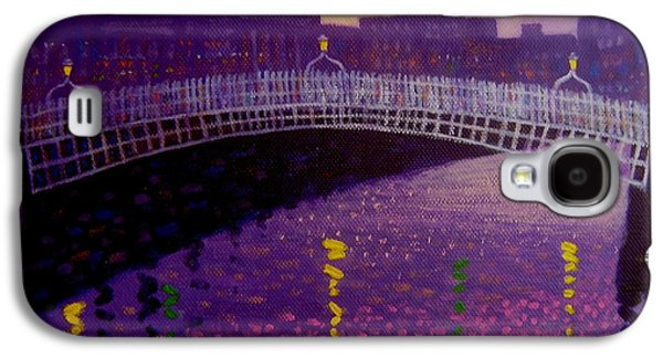 City Scape Galaxy S4 Cases - Spring Evening Ha Penny Bridge Dublin Galaxy S4 Case by John  Nolan