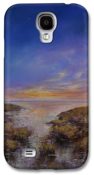 Waterscape Pastels Galaxy S4 Cases - Spring Evening Galaxy S4 Case by Zbynek Jablonecky