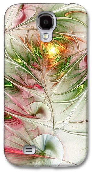 Abstract Digital Mixed Media Galaxy S4 Cases - Spring Flower Galaxy S4 Case by Anastasiya Malakhova