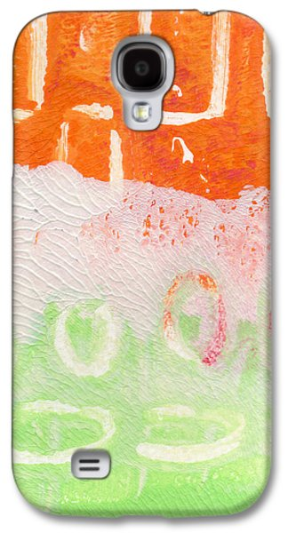 Abstracted Galaxy S4 Cases - Spring Flower Market- Abstract Painting Galaxy S4 Case by Linda Woods
