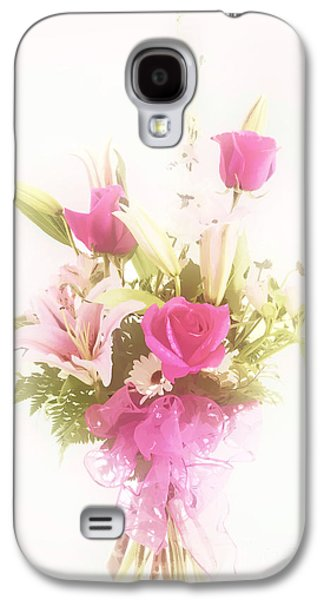 Pinks And Purple Petals Pastels Galaxy S4 Cases - Spring flower Pastel Paint arrangement in Color 3176.02 Galaxy S4 Case by M K  Miller