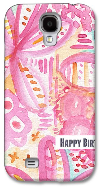 Party Birthday Party Galaxy S4 Cases - Spring Flowers Birthday Card Galaxy S4 Case by Linda Woods