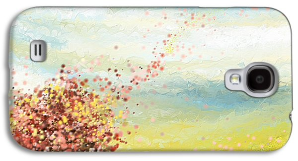 Cherry Tree Galaxy S4 Cases - Spring-Four Seasons Paintings Galaxy S4 Case by Lourry Legarde