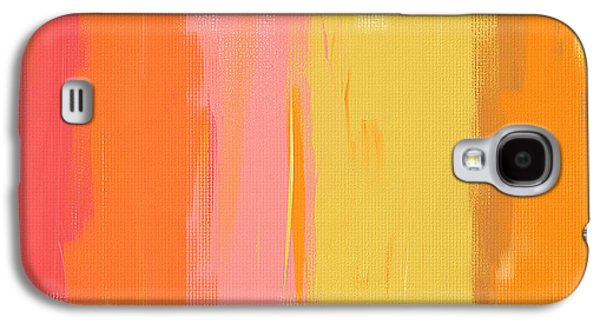 Colorful Abstract Galaxy S4 Cases - Spring Garden Galaxy S4 Case by Lourry Legarde