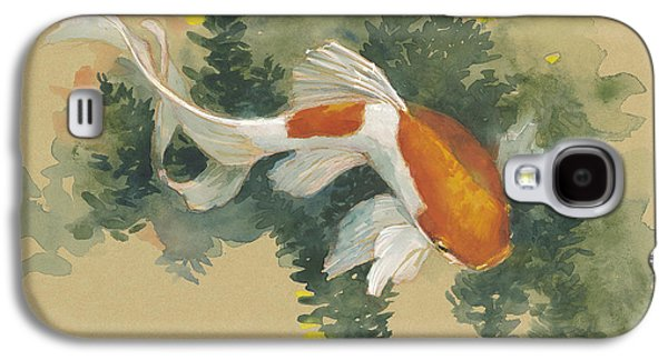 Fish Pond Galaxy S4 Cases - Spring Goldfish I Galaxy S4 Case by Tracie Thompson