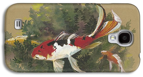 Fish Pond Galaxy S4 Cases - Spring Goldfish II Galaxy S4 Case by Tracie Thompson