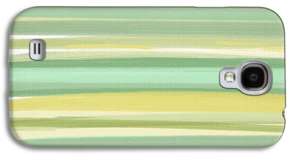 Green And Yellow Galaxy S4 Cases - Spring Green Galaxy S4 Case by Lourry Legarde