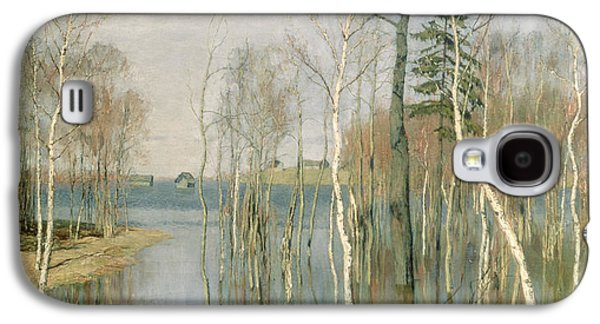 Floods Galaxy S4 Cases - Spring High Water Galaxy S4 Case by isaak Ilyich Levitan