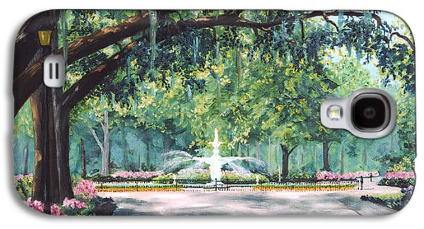 Live Oaks Galaxy S4 Cases - Spring In Forsythe Park Galaxy S4 Case by Stanton Allaben