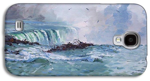 Waterfalls Paintings Galaxy S4 Cases - Spring in Niagara Falls Galaxy S4 Case by Ylli Haruni