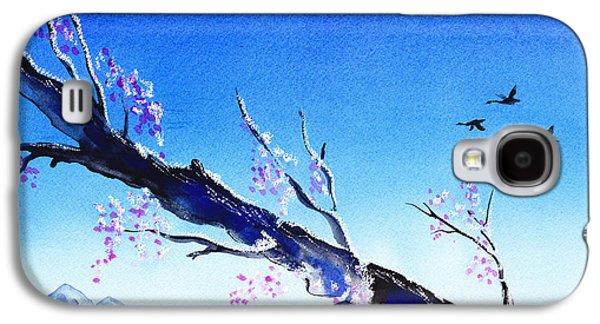 Sakura Paintings Galaxy S4 Cases - Spring In The Mountains Galaxy S4 Case by Irina Sztukowski