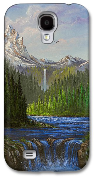 Sawtooth Mountain Paintings Galaxy S4 Cases - Spring In The Rockies Galaxy S4 Case by C Steele