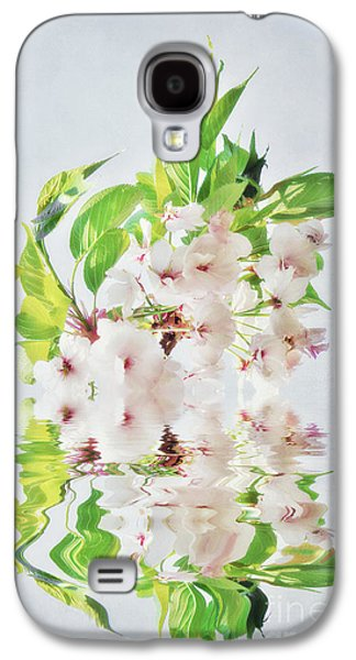 Cherry Blossoms Mixed Media Galaxy S4 Cases - Spring Inspiration Galaxy S4 Case by Angela Doelling AD DESIGN Photo and PhotoArt