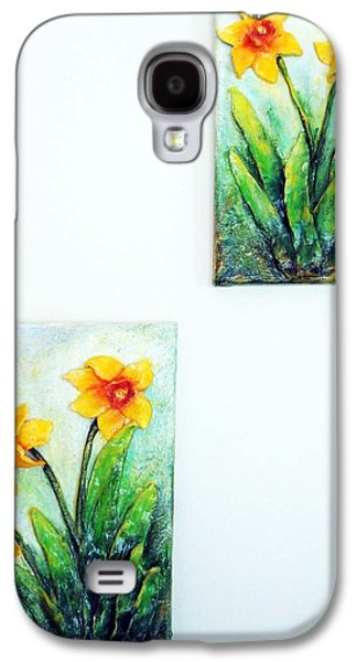 Original Sculptures Galaxy S4 Cases - Spring is Here Galaxy S4 Case by Raya Finkelson