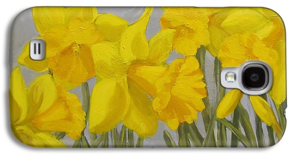 Spring Bulbs Paintings Galaxy S4 Cases - Spring Galaxy S4 Case by Karen Ilari