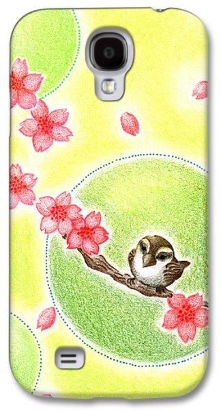 Cherry Blossoms Drawings Galaxy S4 Cases - Spring Galaxy S4 Case by Keiko Katsuta