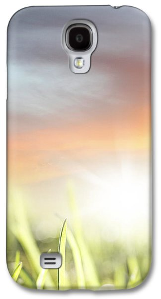 Sunset Abstract Galaxy S4 Cases - Spring light Galaxy S4 Case by Les Cunliffe
