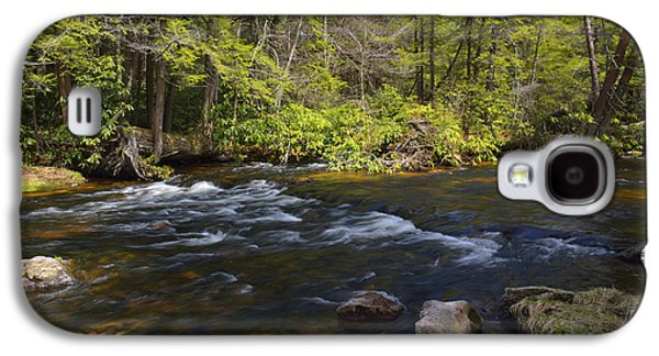 Mud Season Galaxy S4 Cases - Spring Pocono Mountain Stream Pennsylvania Galaxy S4 Case by A Gurmankin