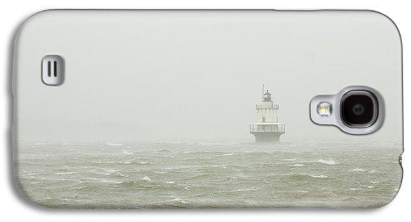 Maine Lighthouses Galaxy S4 Cases - Spring Point Ledge Lighthouse in Storm in Portland Maine Galaxy S4 Case by Keith Webber Jr