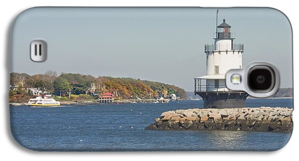 Maine Lighthouses Galaxy S4 Cases - Spring Point Ledge Lighthouse on the Maine Coast Galaxy S4 Case by Keith Webber Jr