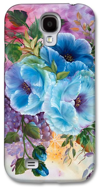 """""""indoor"""" Still Life Paintings Galaxy S4 Cases - Spring Poppys Galaxy S4 Case by  ILONA ANITA TIGGES - GOETZE  ART and Photography"""