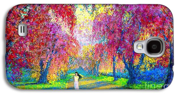 Spring Rhapsody, Happiness And Cherry Blossom Trees Galaxy S4 Case by Jane Small