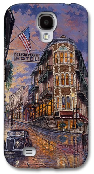 Park Scene Paintings Galaxy S4 Cases - Spring Street Memories Galaxy S4 Case by Kyle Wood