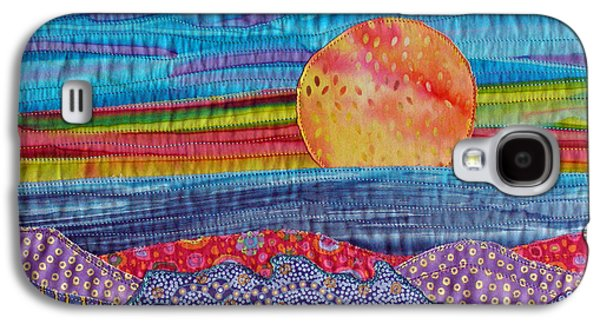 Blue Abstracts Tapestries - Textiles Galaxy S4 Cases - Spring Sunset Galaxy S4 Case by Susan Rienzo