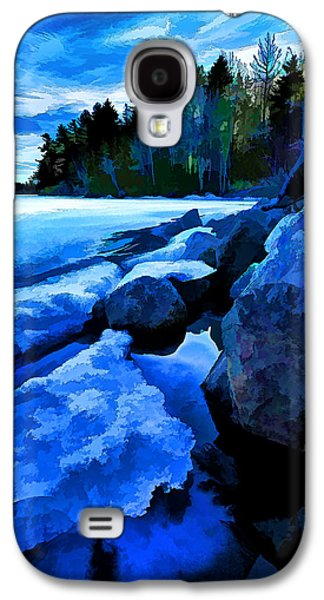 Maine Winter Galaxy S4 Cases - Spring Thaw 2 - Painterly Galaxy S4 Case by Bill Caldwell -        ABeautifulSky Photography
