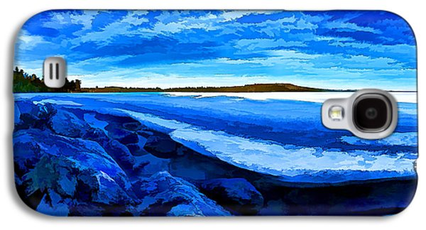 Maine Winter Galaxy S4 Cases - Spring Thaw - Painterly Galaxy S4 Case by Bill Caldwell -        ABeautifulSky Photography
