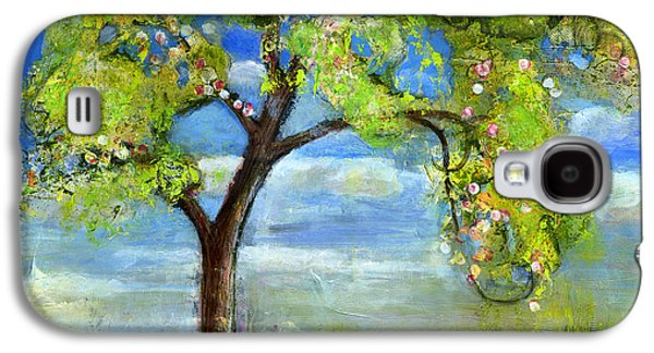 Artistic Paintings Galaxy S4 Cases - Spring Tree Art Galaxy S4 Case by Blenda Studio