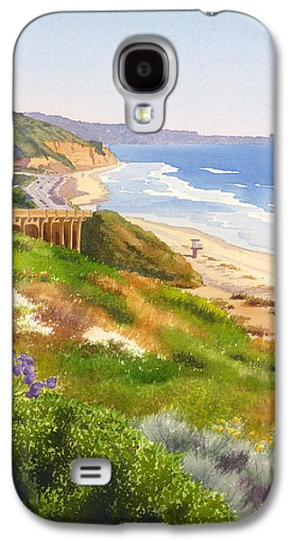 Pine Paintings Galaxy S4 Cases - Spring View of Torrey Pines Galaxy S4 Case by Mary Helmreich