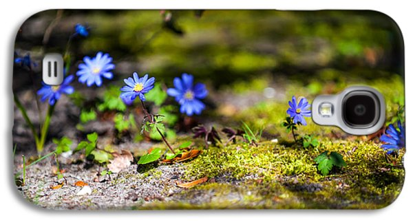 Quiet Time Photographs Galaxy S4 Cases - Spring Wild Flowers Galaxy S4 Case by Jenny Rainbow