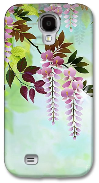 Drawing Galaxy S4 Cases - Spring Wisteria Galaxy S4 Case by Bedros Awak