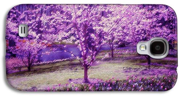 Quiet Time Photographs Galaxy S4 Cases - Spring Wonderland Pastel. Garden Keukenhof. Netherlands Galaxy S4 Case by Jenny Rainbow