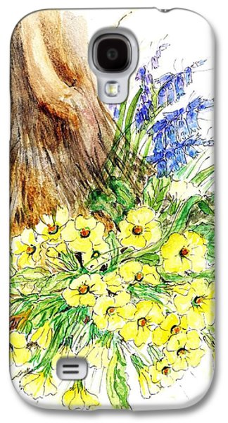 Primroses Galaxy S4 Cases - Spring Woodland Wc On Paper Galaxy S4 Case by Nell Hill