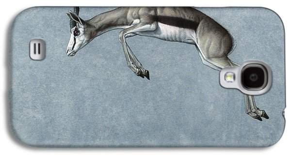 Nature Drawings Galaxy S4 Cases - Springbok Galaxy S4 Case by James W Johnson