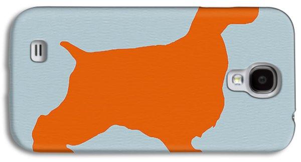 Puppy Drawings Galaxy S4 Cases - Springer Spaniel Orange Galaxy S4 Case by Naxart Studio