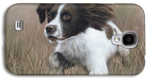 Working Dog Galaxy S4 Cases - Springer Spaniel Painting Galaxy S4 Case by Rachel Stribbling