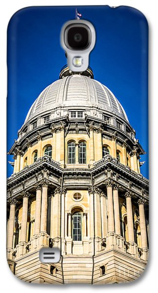 Landmarks Photographs Galaxy S4 Cases - Springfield Illinois State Capitol Dome Galaxy S4 Case by Paul Velgos