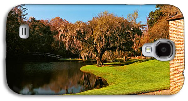 Garden Scene Galaxy S4 Cases - Springhouse And Chapel In A Garden Galaxy S4 Case by Panoramic Images
