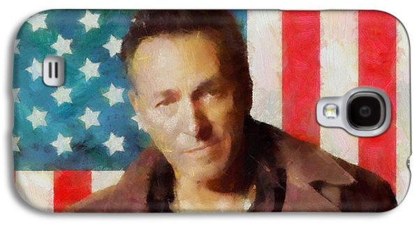 Stars And Stripes Mixed Media Galaxy S4 Cases - Springsteen American Icon Galaxy S4 Case by Dan Sproul