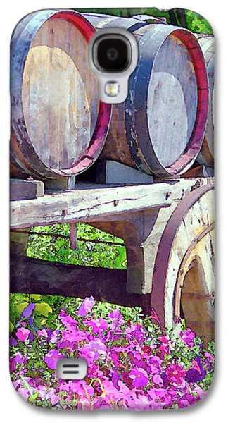 Wine Cart Galaxy S4 Cases - Springtime at V Sattui Winery St Helena California Galaxy S4 Case by Michelle Wiarda