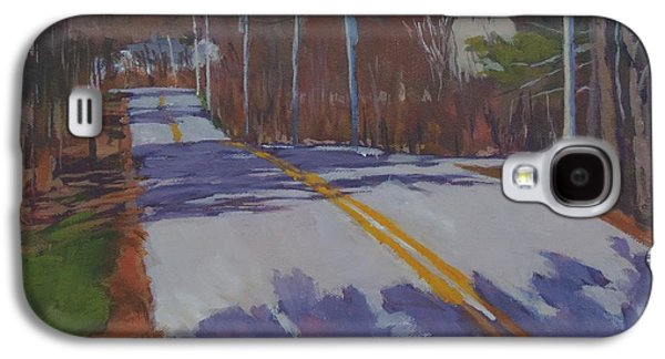 Maine Roads Paintings Galaxy S4 Cases - Springtime Country Road Galaxy S4 Case by Bill Tomsa