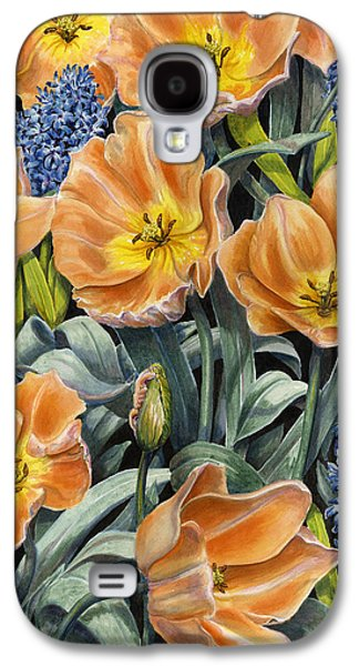 Spring Bulbs Paintings Galaxy S4 Cases - Springtime Galaxy S4 Case by Karen Wright