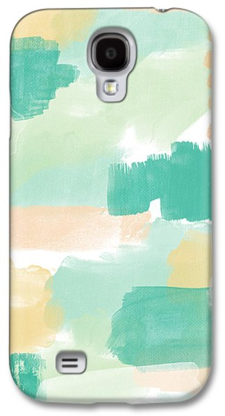 Contemporary Abstract Mixed Media Galaxy S4 Cases - Spumoni- Abstract Painting Galaxy S4 Case by Linda Woods