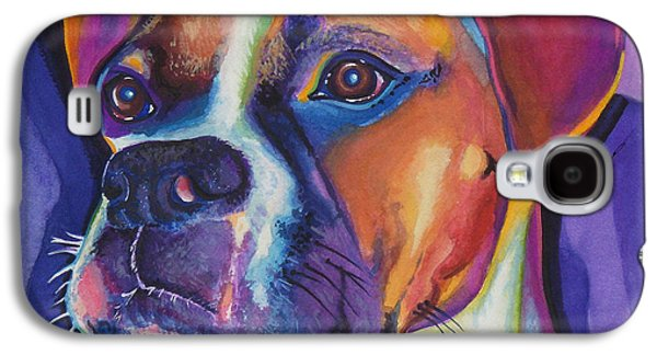 Square Boxer Portrait Galaxy S4 Case by Robyn Saunders
